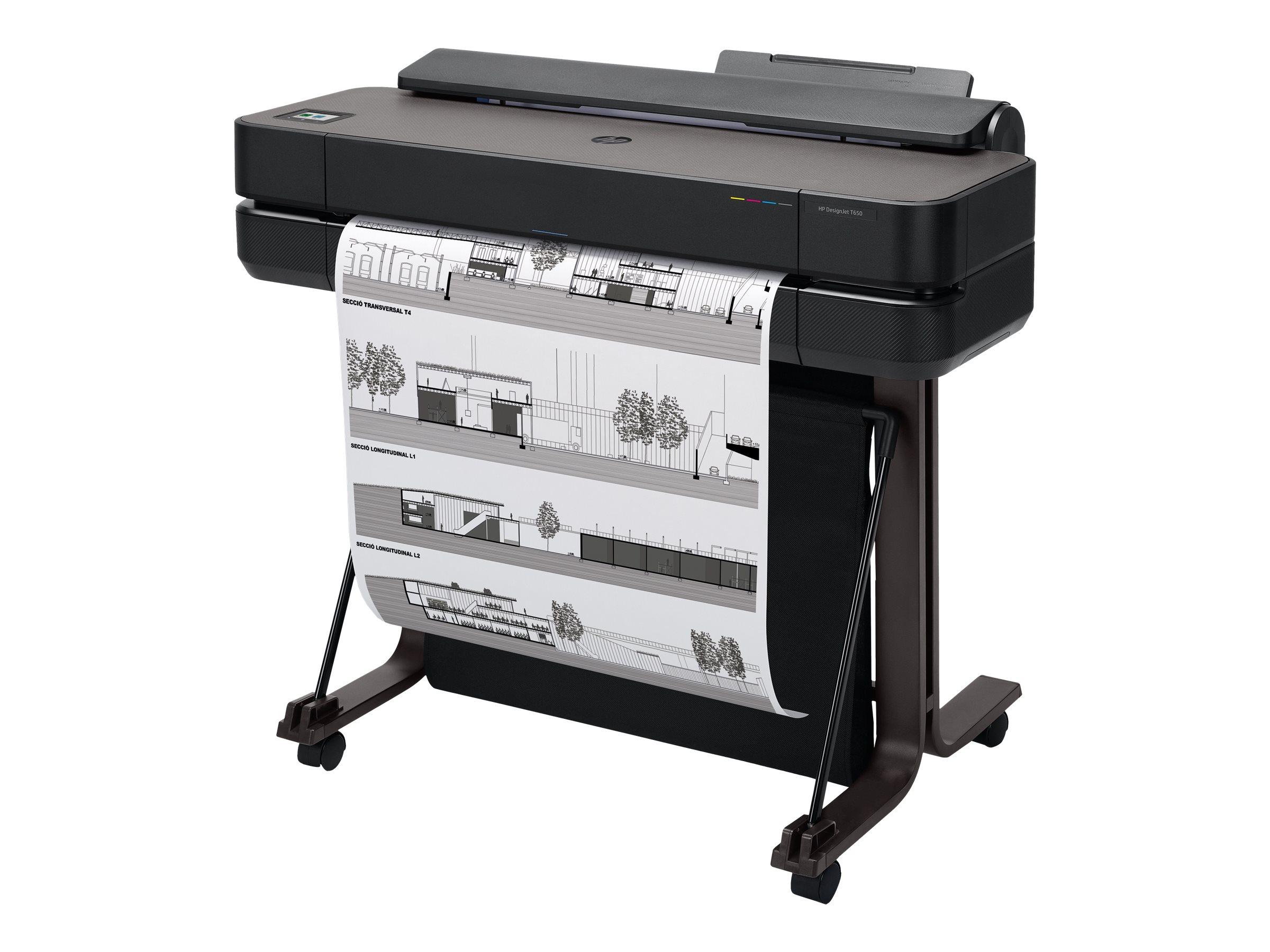 "HP DesignJet T650 - 610 mm (24"") Gro?formatdrucker - Farbe - Tintenstrahl - Rolle A1 (61,0 cm x 91,4 m)"