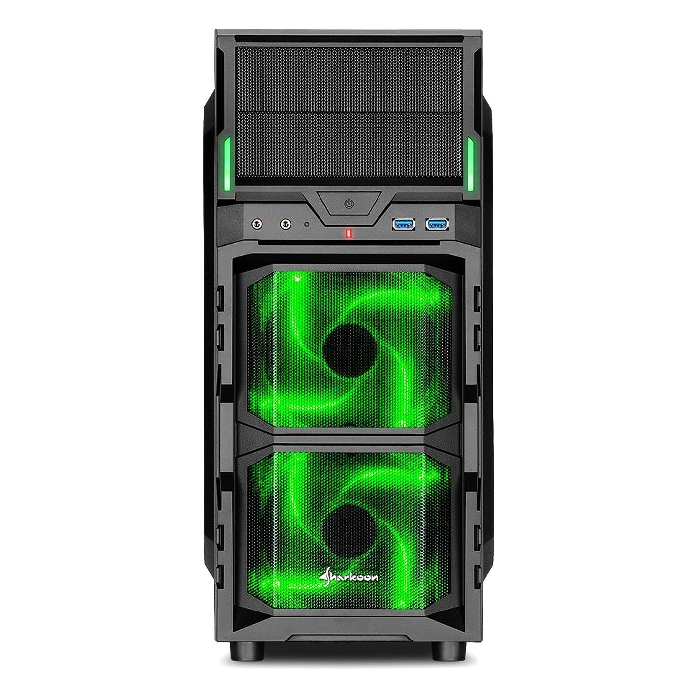 Pc Gehuse Sharkoon Dg7000 G Green Atx
