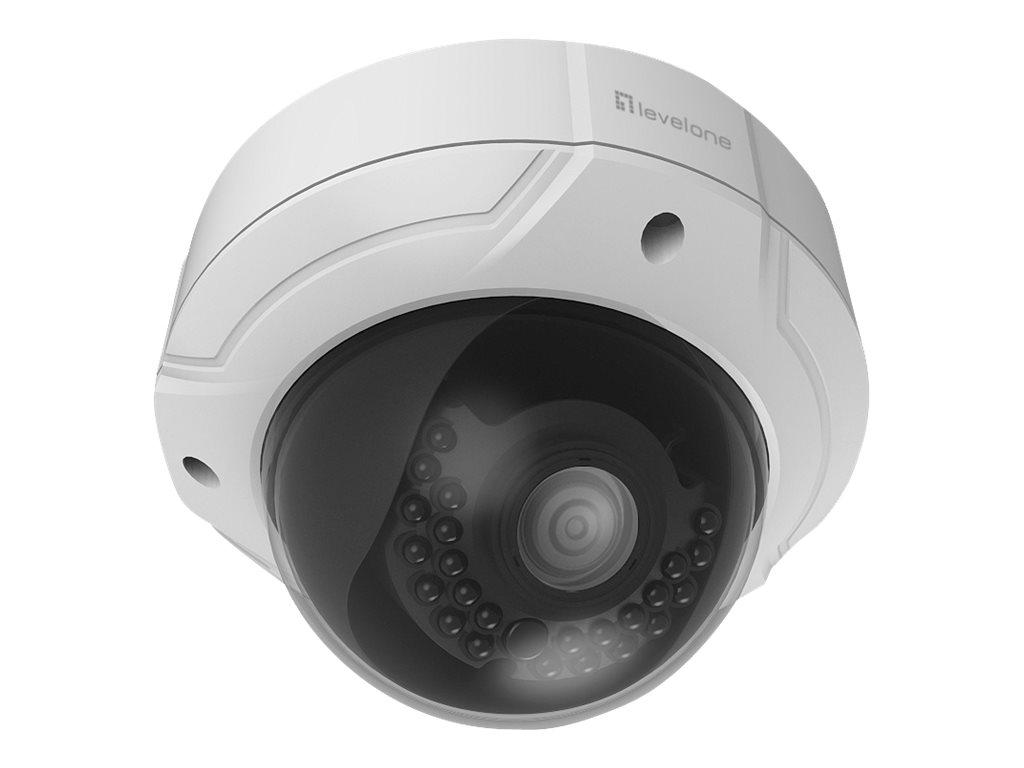 LevelOne FCS-3085 - Netzwerk-Überwachungskamera - Kuppel - Außenbereich - Vandalismussicher / Wetterbeständig - Farbe (Tag&Nacht)