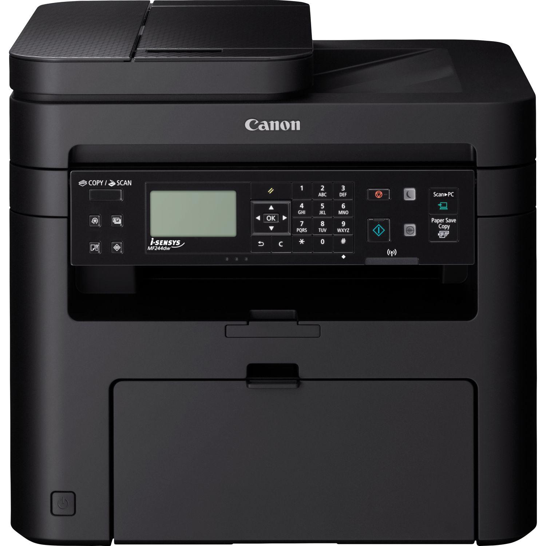Canon i-SENSYS MF 244 dw Laser/LED-Druck Multifunktionsgerät - s/w - 27 ppm - USB, USB 2.0 RJ-45