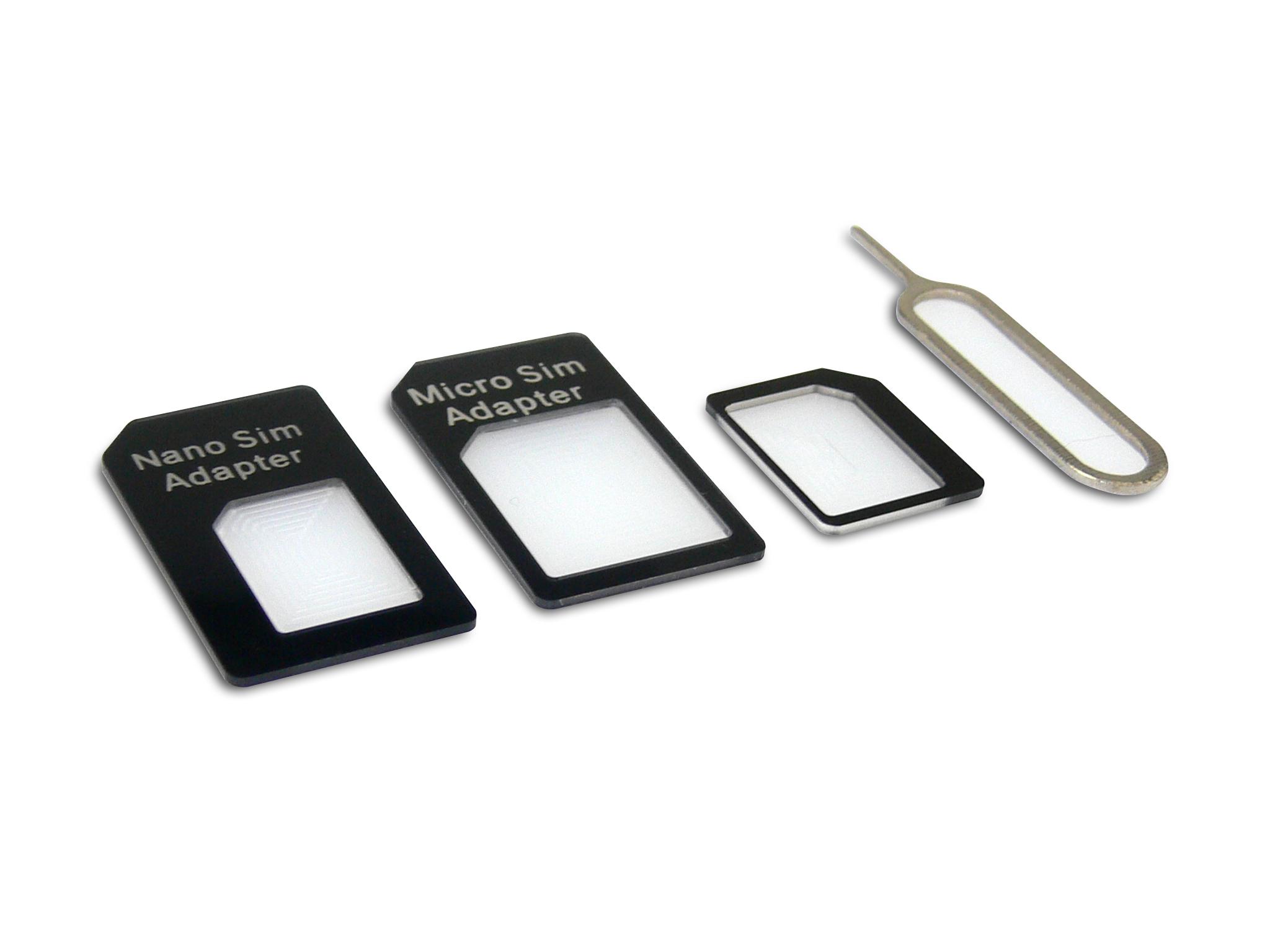 SANDBERG A/S Sandberg SIM Adapter Kit 4in1