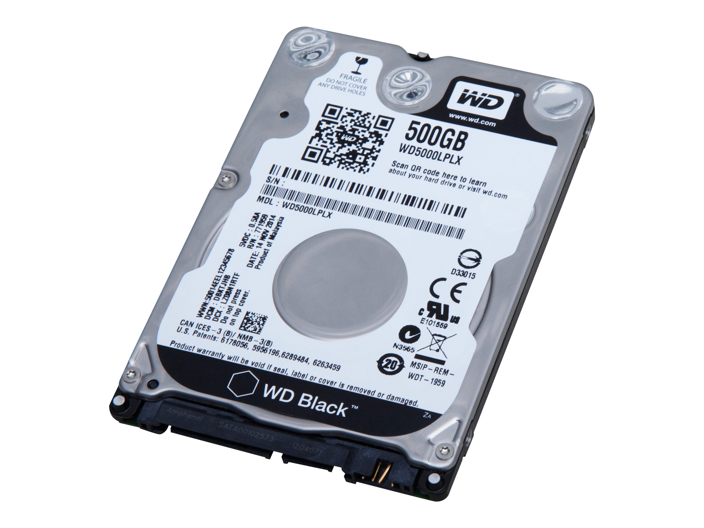 WD Black Performance Hard Drive WD5000LPLX