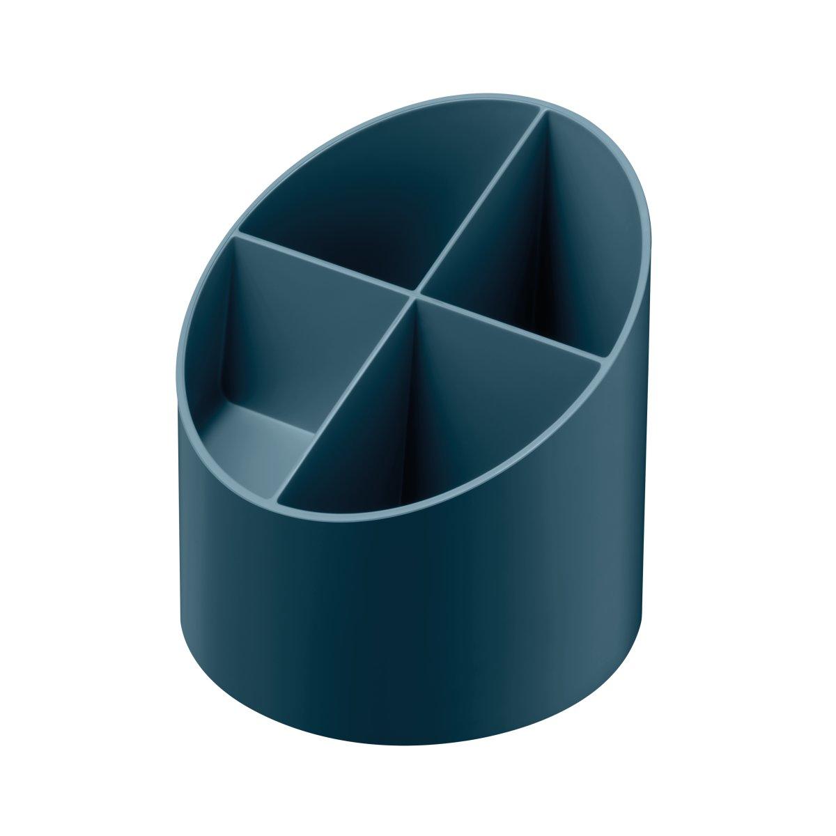 Vorschau: Herlitz Köcher rund 4 Fächer dunkelblau