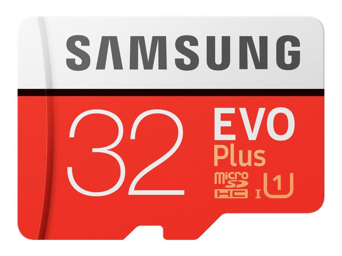 Samsung EVO Plus MB-MC32G - Flash-Speicherkarte (microSDHC/SD-Adapter inbegriffen)