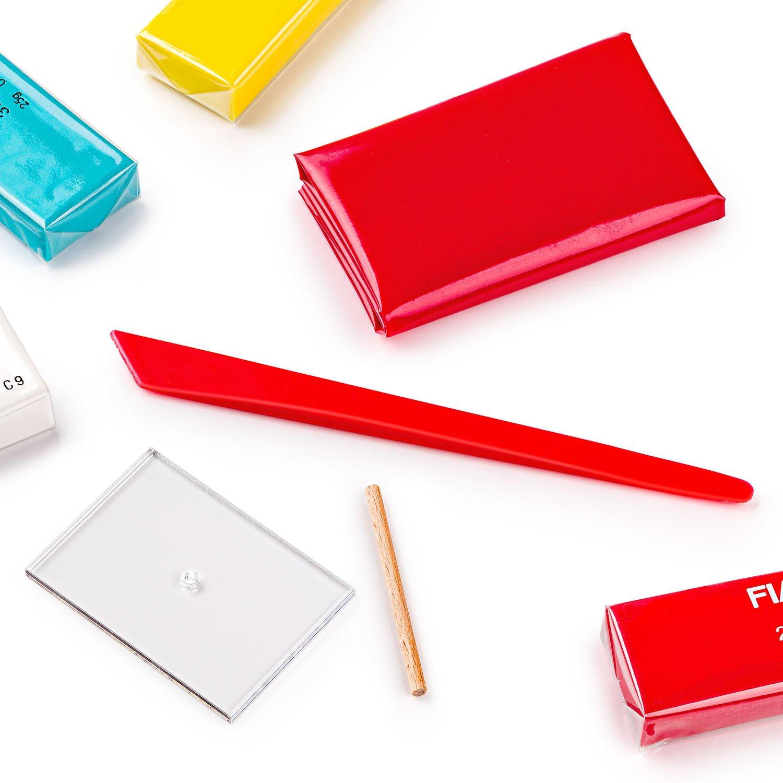 STAEDTLER FIMO Lilly - Knetmasse - Blau - Rot - Weiß - Gelb - 4 Stück(e) - 4 Farben - 110 °C - 30 min