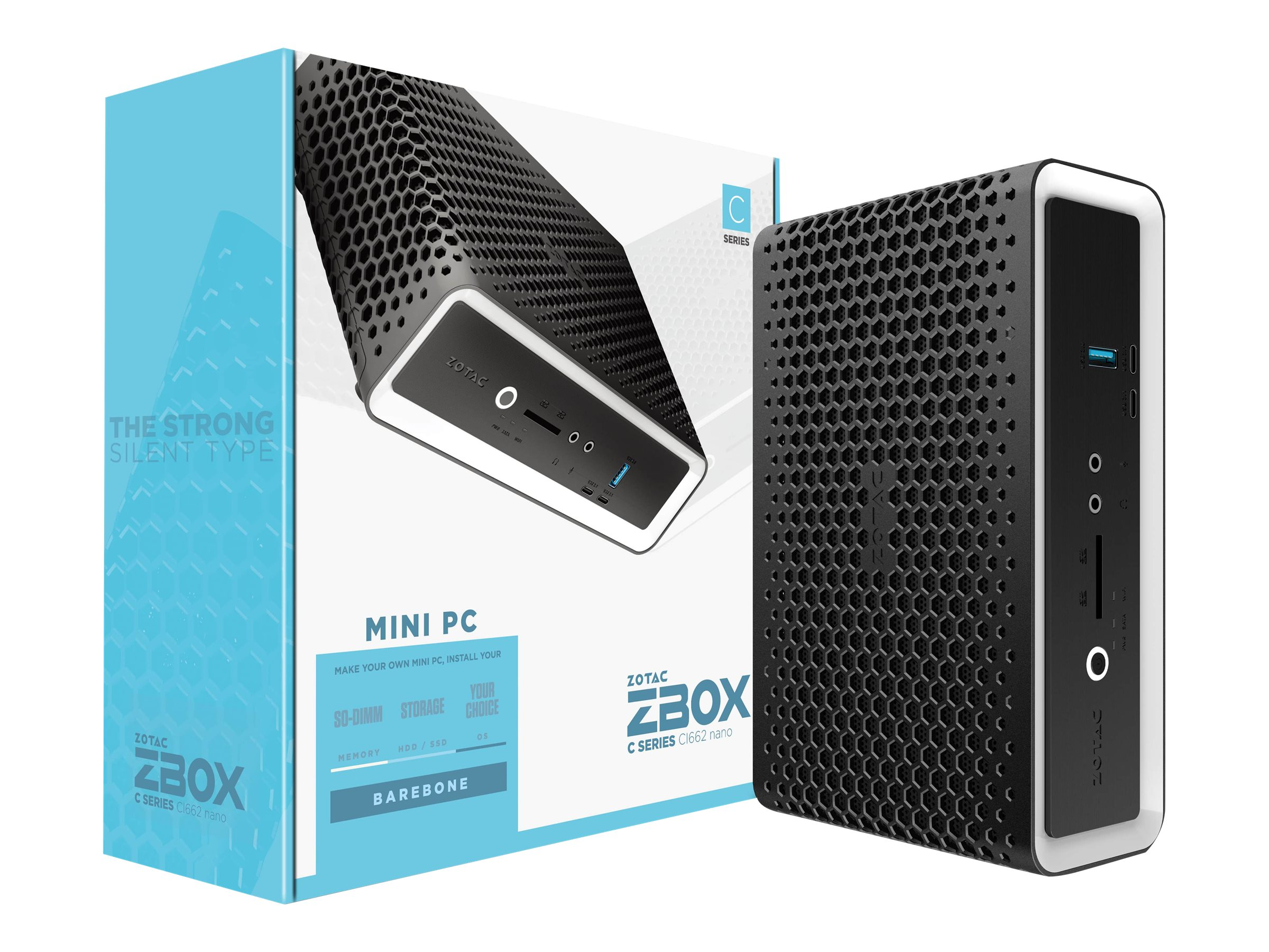 ZOTAC ZBOX C Series CI662 nano - Barebone - Mini-PC