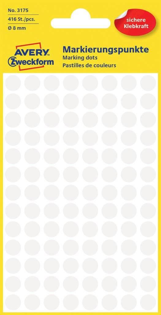 Avery Zweckform 3175 selbstklebendes Etikett Weiß Kreis Dauerhaft 416 Stück(e)