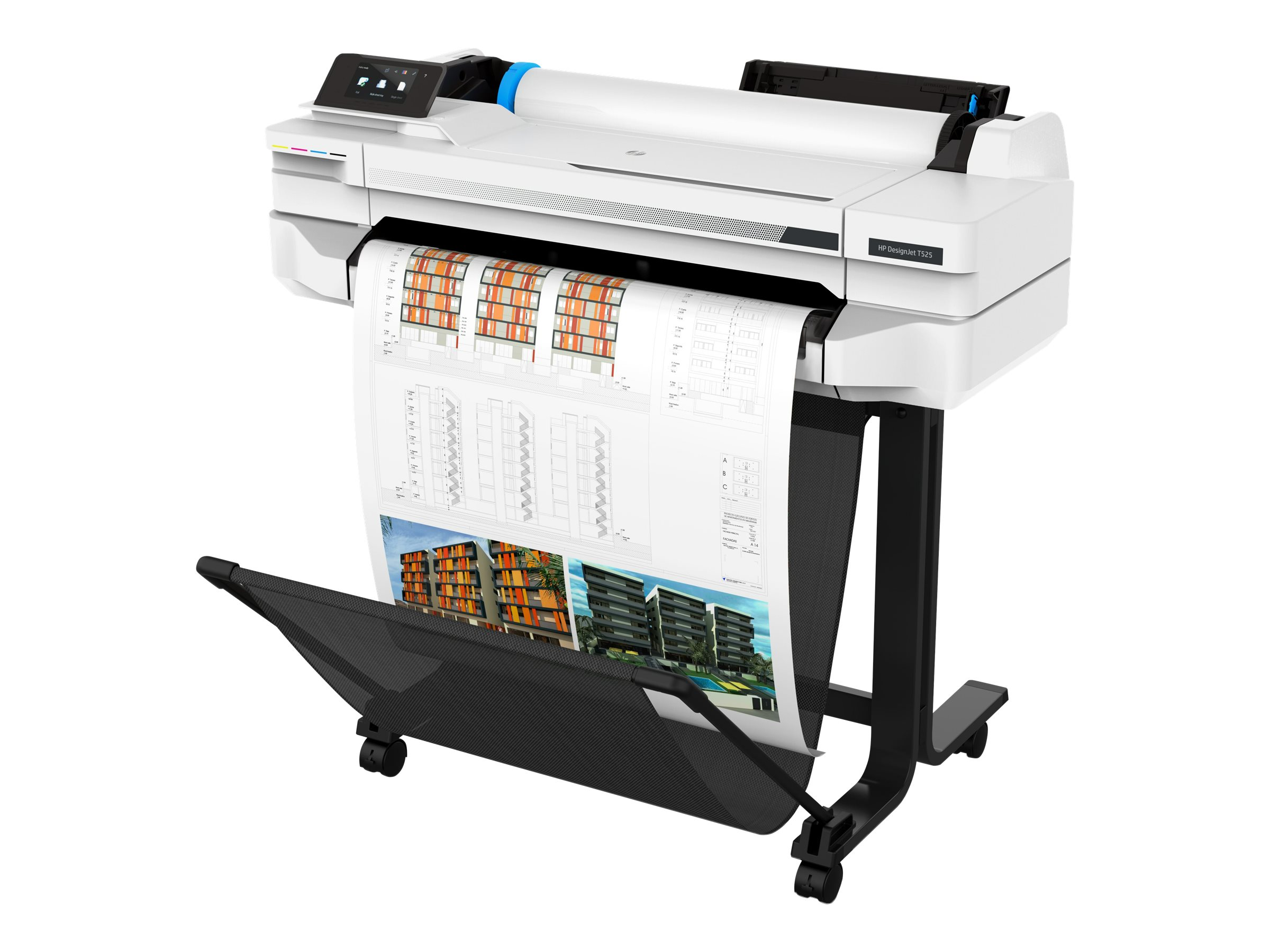 "HP DesignJet T525 - 610 mm (24"") Gro?formatdrucker - Farbe - Tintenstrahl - A1, ANSI D, Rolle (61 cm x 45,7 m)"