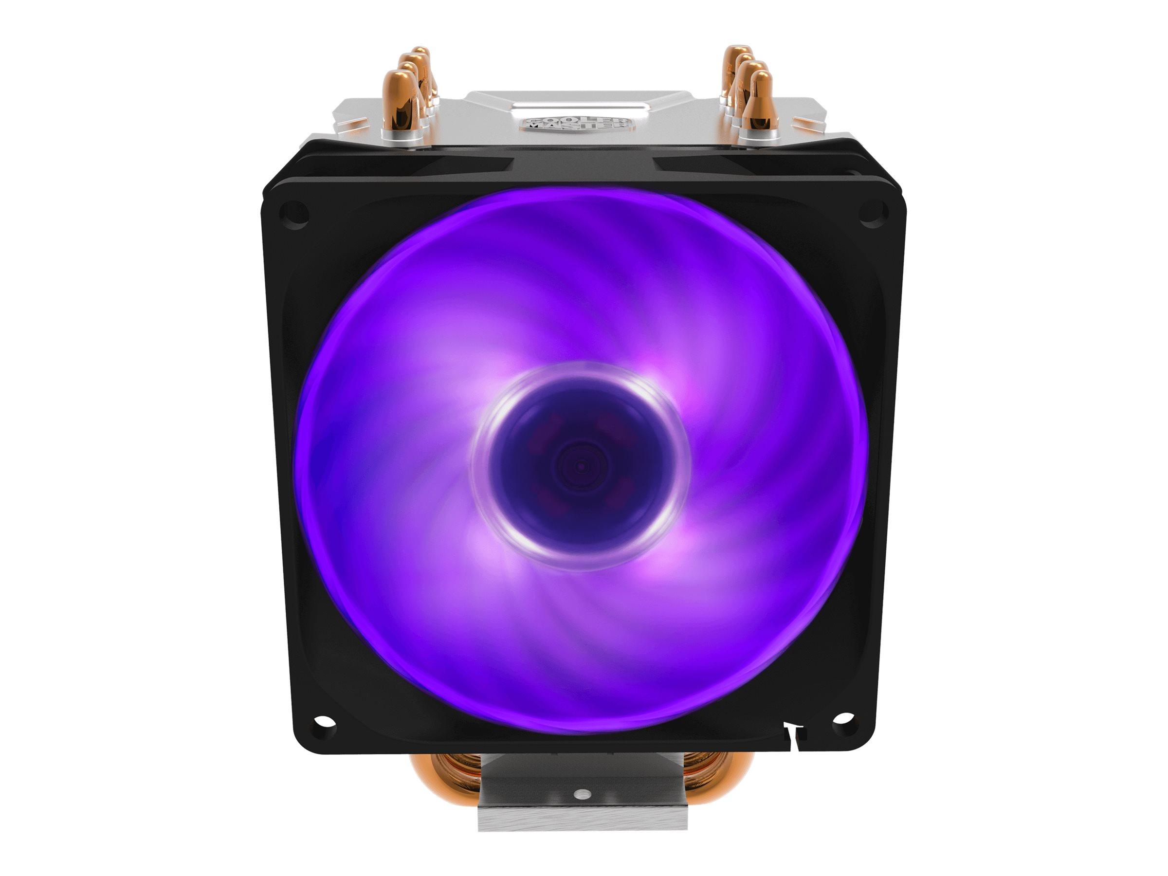 Cooler Master Hyper H410R RGB - Prozessor-Luftkühler - (für: LGA1156, AM2, AM2+, LGA1366, AM3, LGA1155, AM3+, LGA2011, FM1, FM2, LGA1150, FM2+, LGA2011-3, LGA1151, AM4, LGA2066, LGA1200)