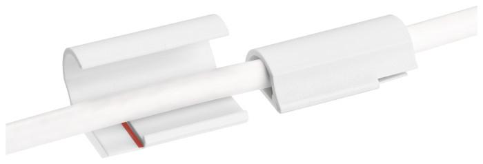 Tesa 58035 - Powerstrips - Kabelclip - weiß - 5 Stück