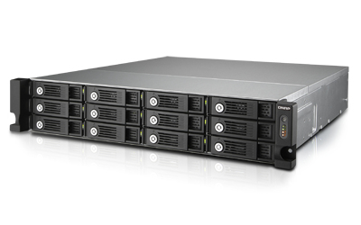 QNAP TVS-1271U-RP NAS Rack (2U) Eingebauter Ethernet-Anschluss Schwarz - Grau