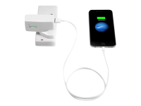 2-in-1 USB Wall Charger & Power Bank - Power Bank / Stromadapter 2100 mAh ( USB ) - weiß