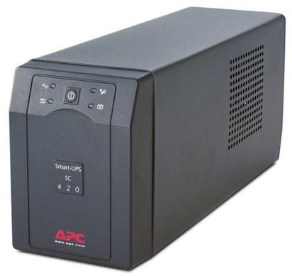 APC Smart-UPS Line-Interaktiv 420VA 4AC-Ausgänge Tower Grau Unterbrechungsfreie Stromversorgung (UPS)