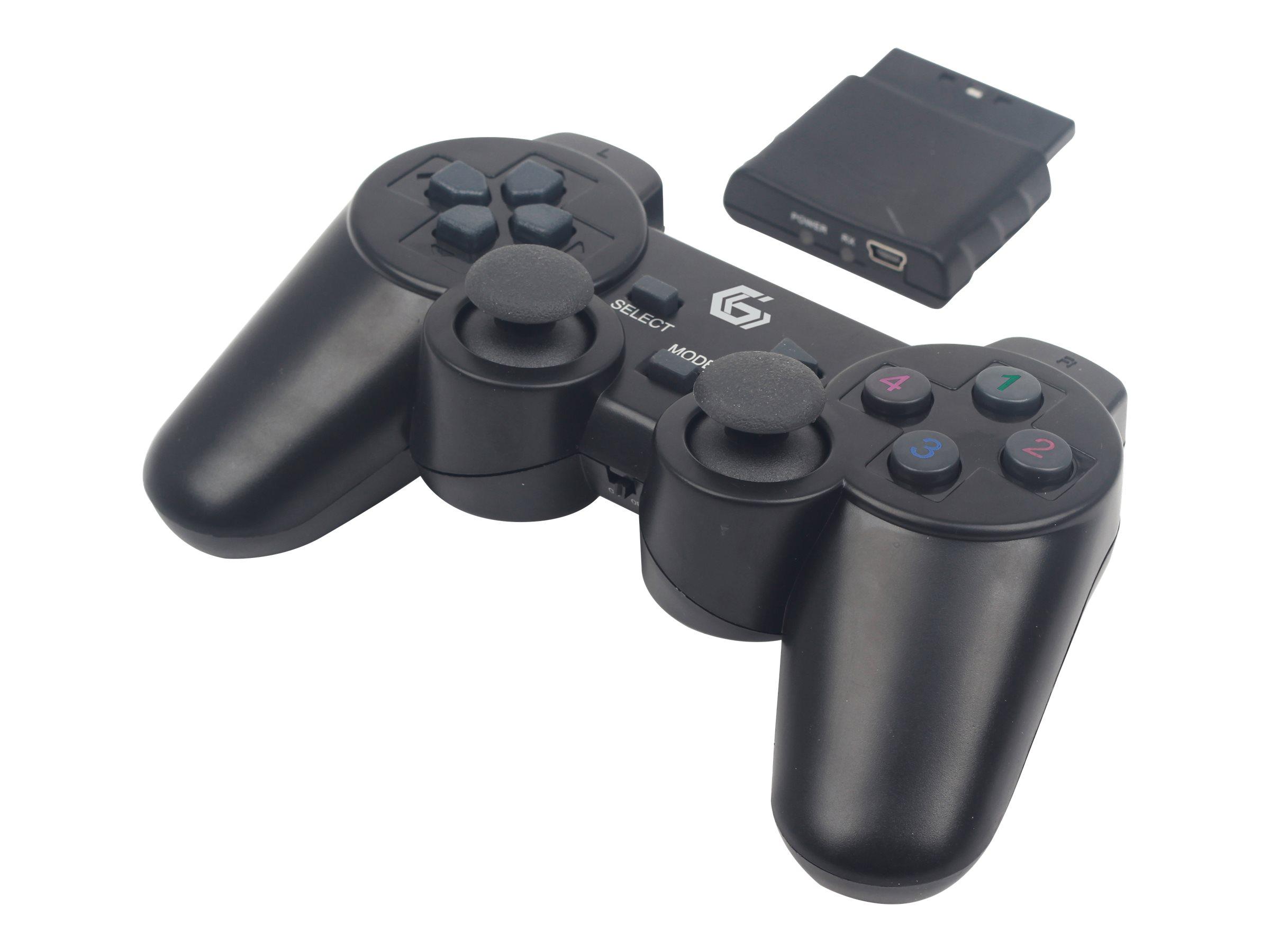 Gembird JPD-WDV-01 - Game Pad - 12 Tasten - kabellos - 2.4 GHz (Packung mit 2)