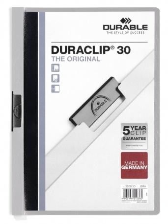 Durable Duraclip 30 - Grau - Transparent - PVC - 30 Blätter - A4 - 1 Stück(e)