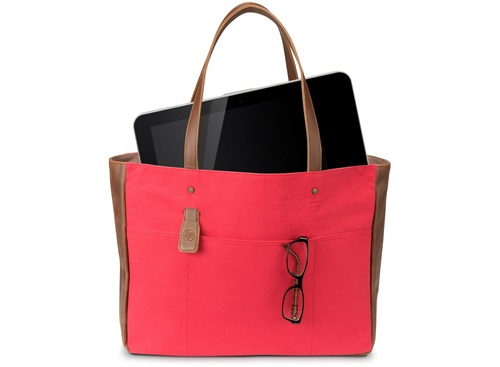HP 14 Ladies Red Tote 14Zoll Kosmetiktasche Braun - Rot