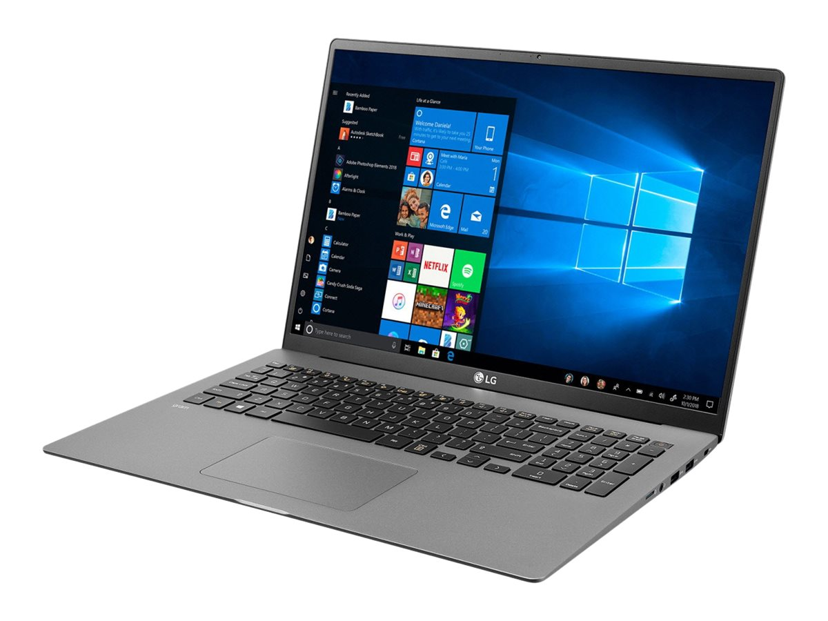 "LG gram 17Z90N-V.AP77G - Business Edition - Core i7 1065G7 / 1.3 GHz - Win 10 Pro - 16 GB RAM - 1 TB SSD - 43.18 cm (17"""