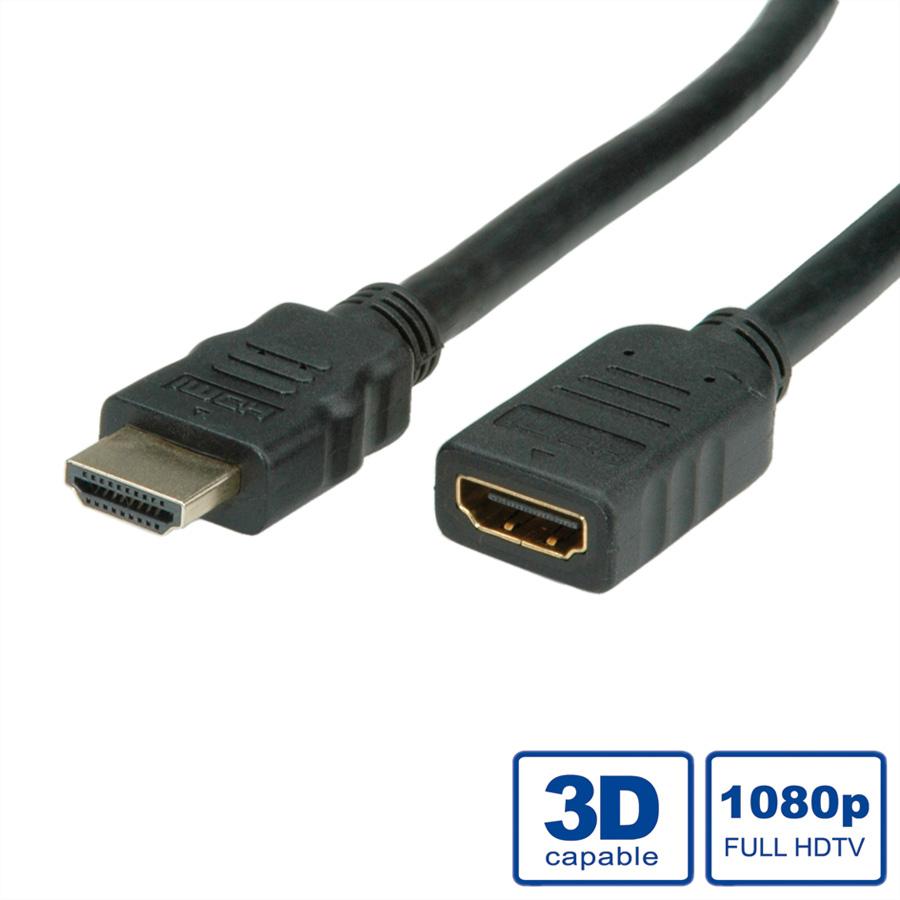 VALUE HDMI High Speed Cable with Ethernet - Video-/Audio-/Netzwerkverlängerungskabel - HDMI