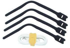 Lindy Kabelbinder 20cm schwarz mit Klettverschluss Packung 10 Stück