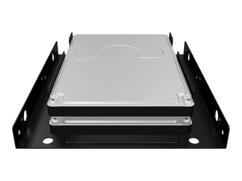 "ICY BOX ICY BOX IB-AC643 - Speichereinschubadapter - 3.5"" to 2 x 2.5"" (8,9 cm bis 2 x 6,4 cm)"