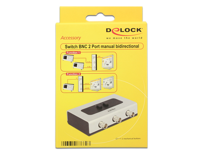 Delock Switch BNC 2 port manual bidirectional