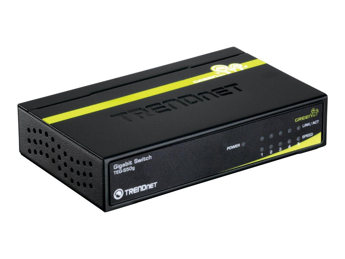 TRENDnet TEG S50G - Switch - 5 x 10/100/1000