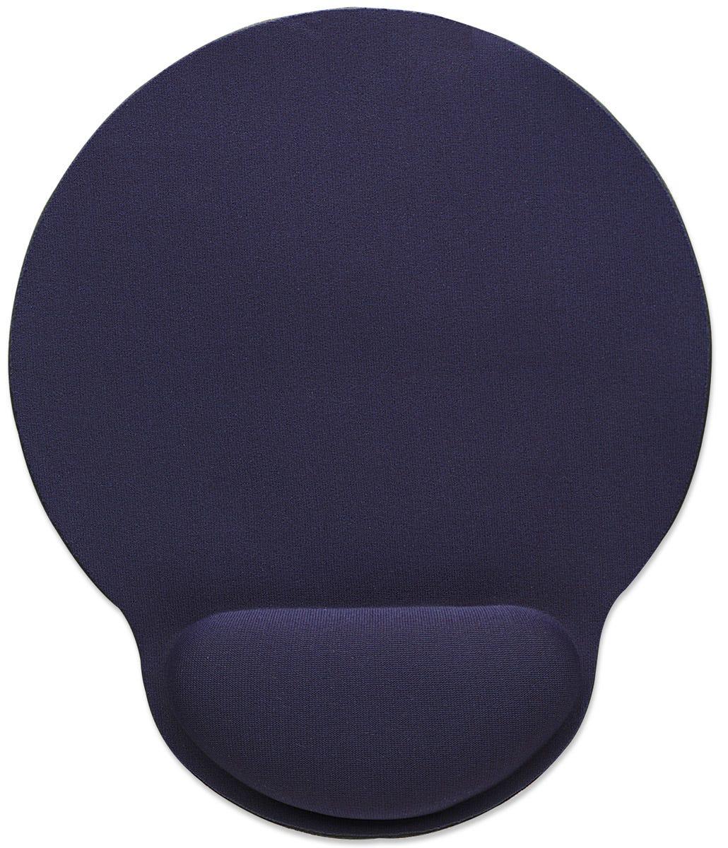 Manhattan 434386 - Blau - Einfarbig - Handgelenkauflage - Anti-Rutsch-Basis - Gaming-Mauspad