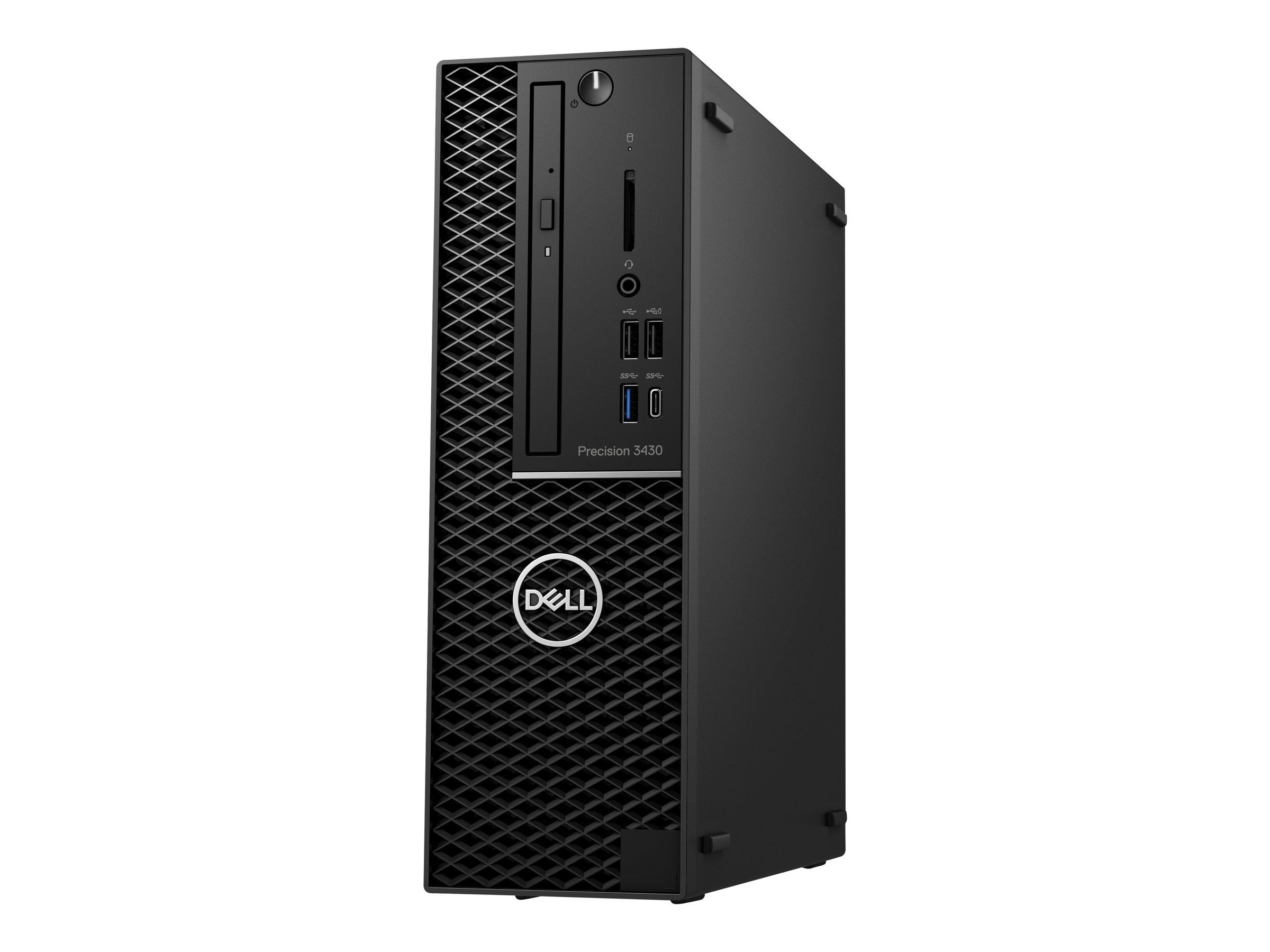 Dell Precision 3430 Small Form Factor - SFF - 1 x Core i5 8500 / 3 GHz - RAM 8 GB - HDD 1 TB - DVD-Writer - UHD Graphics
