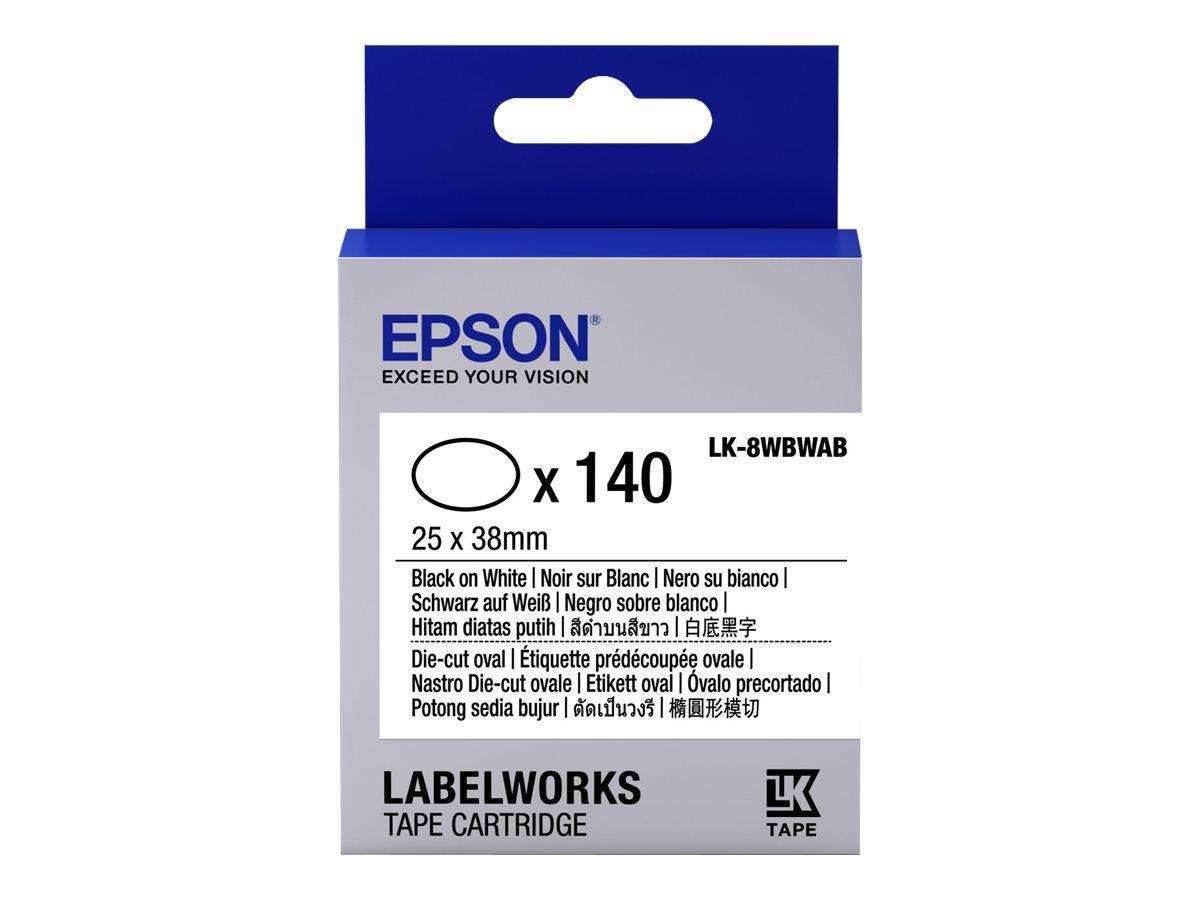 Epson LabelWorks LK-8WBWAB - Schwarz auf Weiß