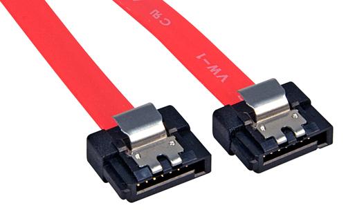 Lindy Internes SATA - Kabel mit extrem kurzen Latch-Steckern