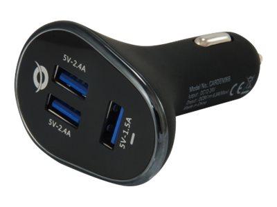 Conceptronic CARDEN - Auto-Netzteil - 31.5 Watt - 6.3 A - 3 Ausgabeanschlussstellen (USB)