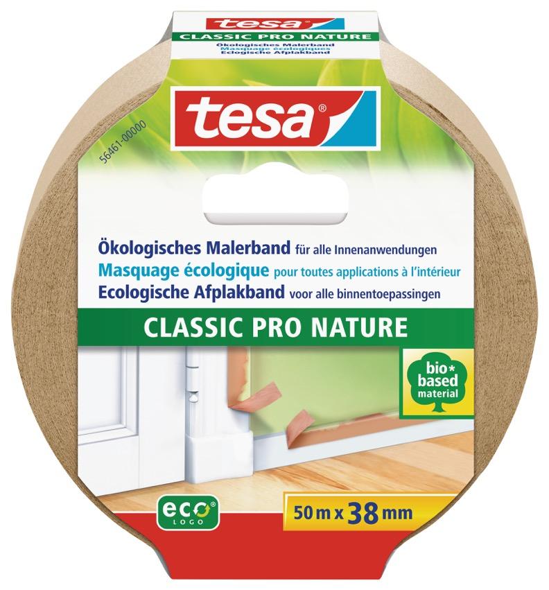 Tesa 56461 - Maler-Abdeckband - Papier - Beige - Holz - Acrylfarbe - Alkydfarbe - Latexfarbe - Kautschuk-Basis
