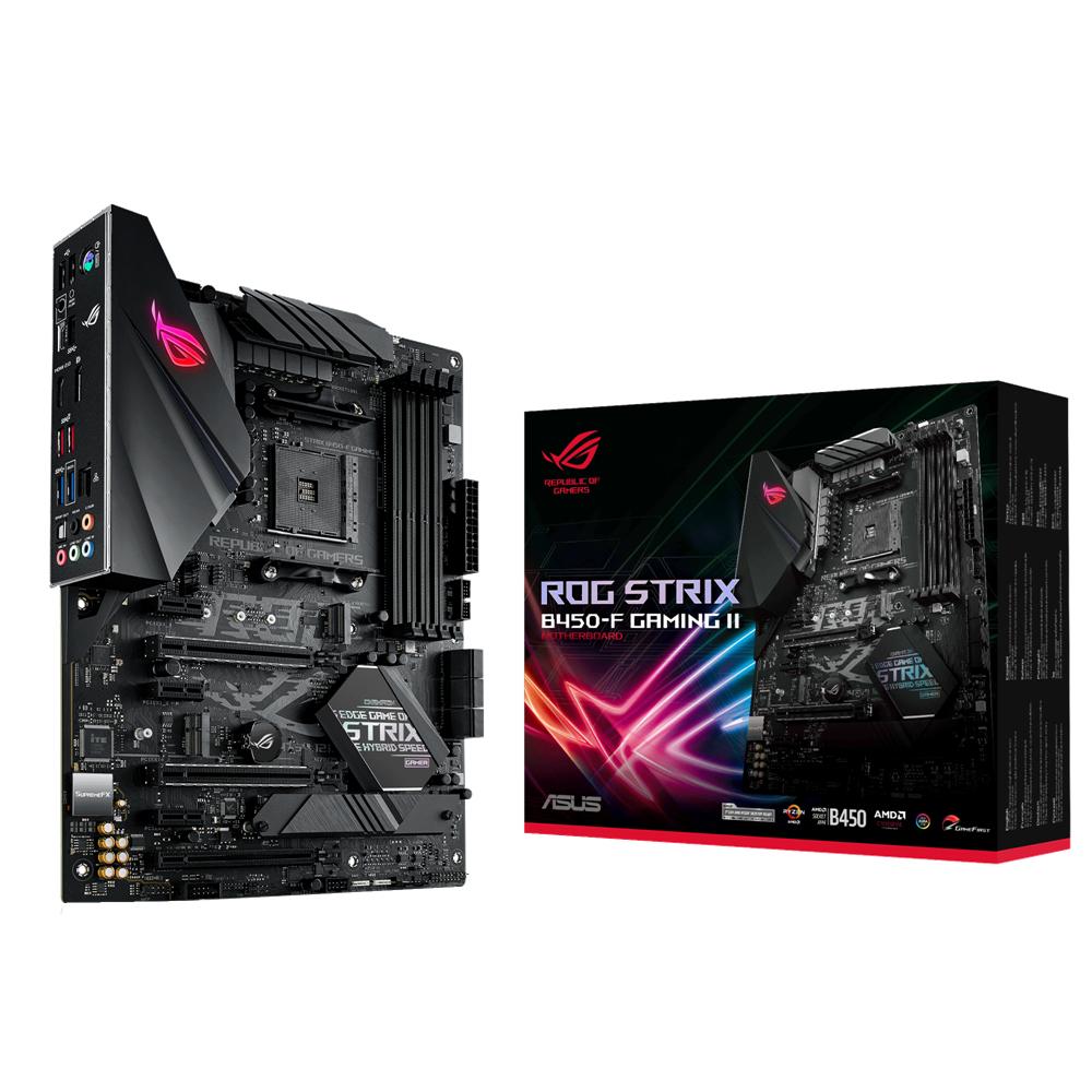 ASUS ROG STRIX B450-F GAMING II - AMD - Socket AM4 - AMD Ryzen 3 - AMD Ryzen 5 - AMD Ryzen 7 - 3rd Generation AMD Ryzen 9 - DDR4-SDRAM - DIMM - 2133,2400,2666,2800,3000,3200,3466,3600,3866,4000,4400 MHz