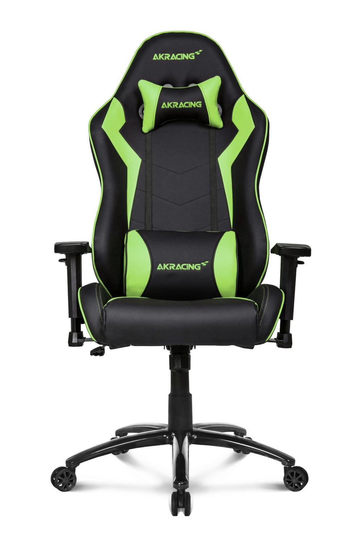 AKRacing SX - PC-Spielstuhl - PC - Gepolsterter Sitz - Gepolsterte Rückenlehne - Schwarz - Metall