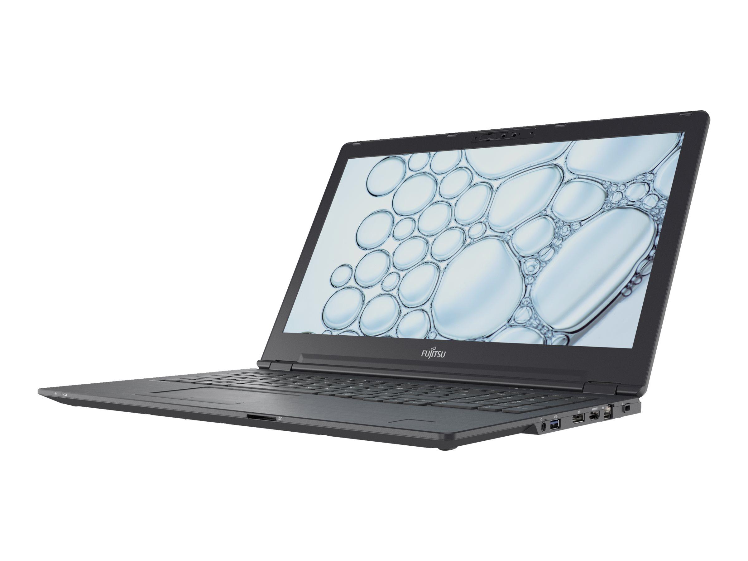 "Fujitsu LIFEBOOK U7510 - Ultrabook - Core i5 10210U / 1.6 GHz - Win 10 Pro - 8 GB RAM - 256 GB SSD NVMe, EraseDisk - 39.6 cm (15.6"")"
