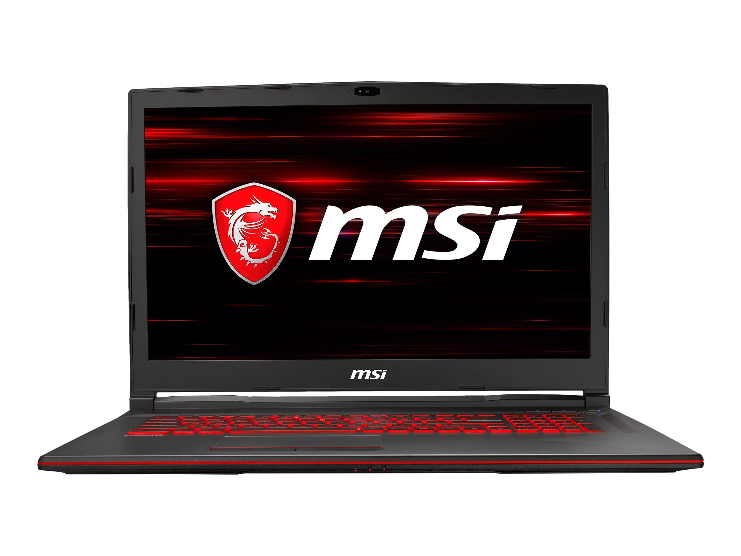 "MSI GL73 8SD 223DE - Core i7 9750H - Windows 10 Home - 16 GB RAM - 512 GB SSD NVMe - 43.9 cm (17.3"")"