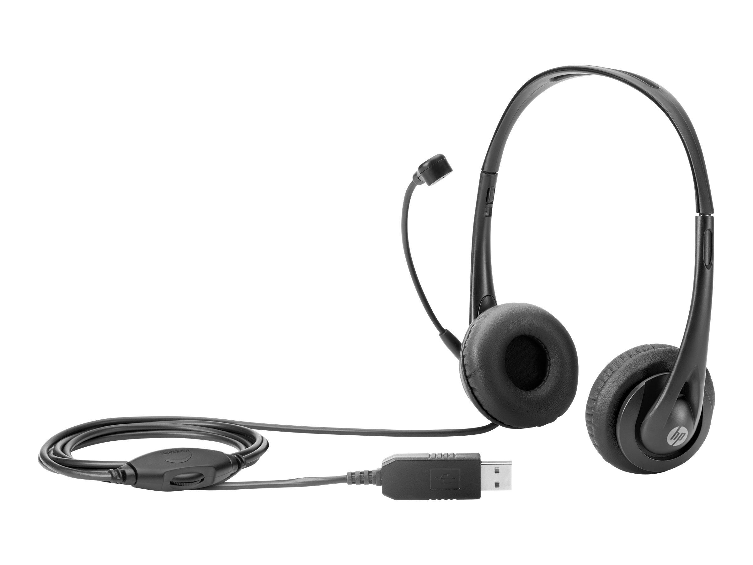 HP Headset - Black Jack - Stereo - On-Ear - kabelgebunden - USB