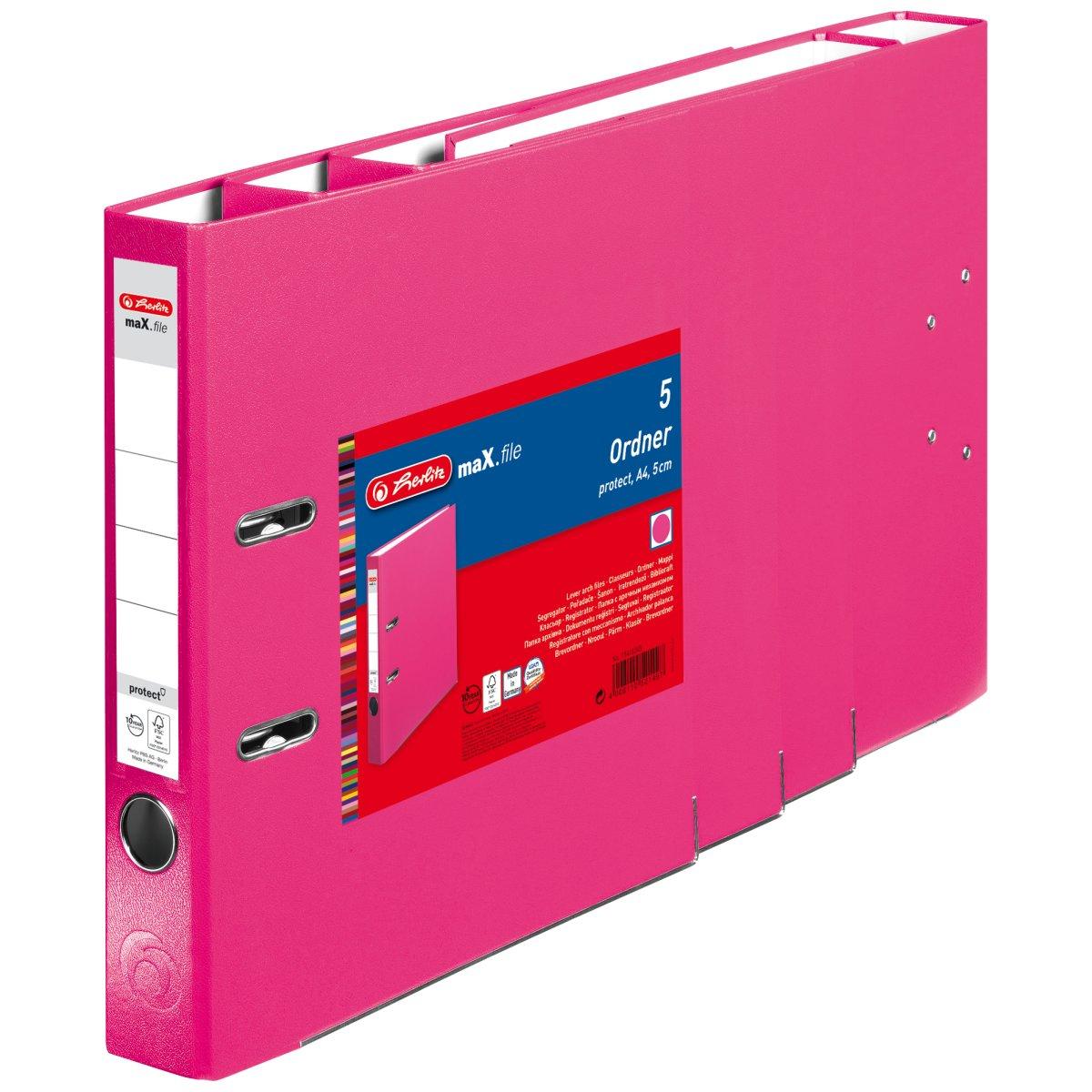Vorschau: Herlitz 11416245 - 5 Blätter - Pink - Polypropylen (PP) - A4 - 50 mm