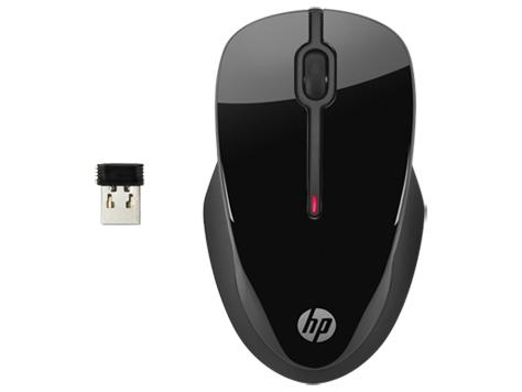 HP X3500 RF Wireless Ambidextrös Schwarz Maus