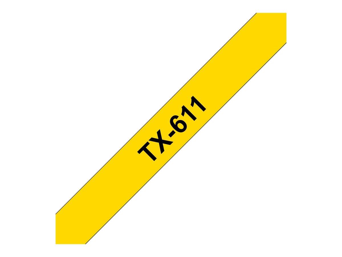Brother TX611 - Schwarz auf Gelb