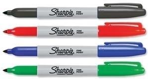 Sharpie Fine Point - Schwarz - Blau - Grün - Rot - Feine Spitze - Mehrfarben - Fein - 0,9 mm - Karton - Leder - Metall - Papier - Kunststoff - Stein - Holz