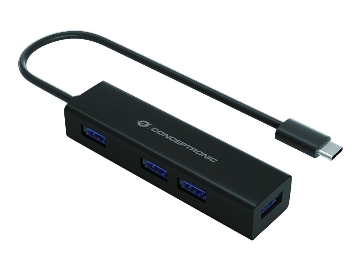 Vorschau: Conceptronic HUBBIES07B - Hub - 4 x SuperSpeed USB 3.0