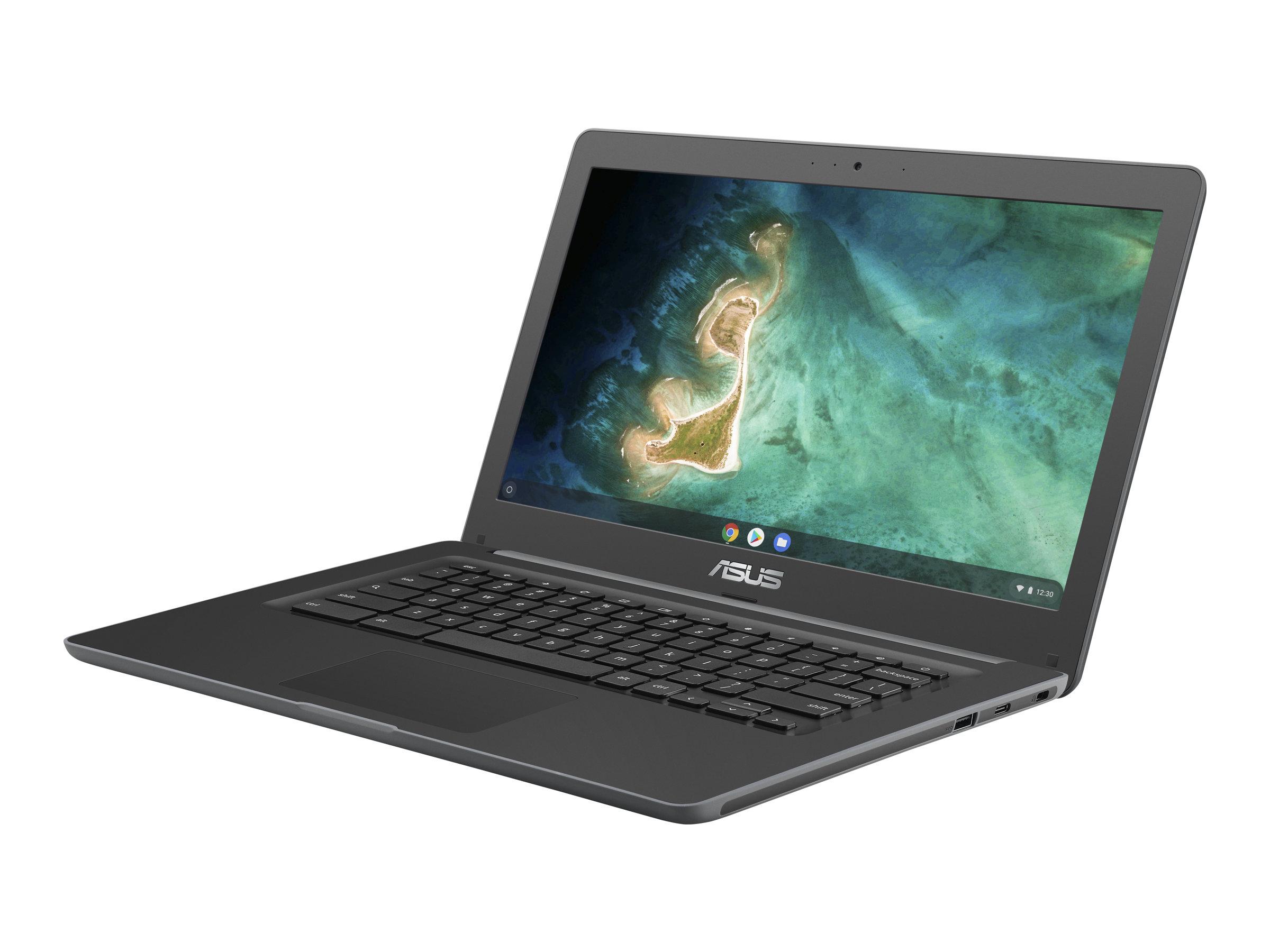 ASUS Chromebook C403NA FQ0045 - 180? Scharnier - Celeron N3350 / 1.1 GHz - Chrome OS - 4 GB RAM - 32 GB eMMC - 35.6 cm (