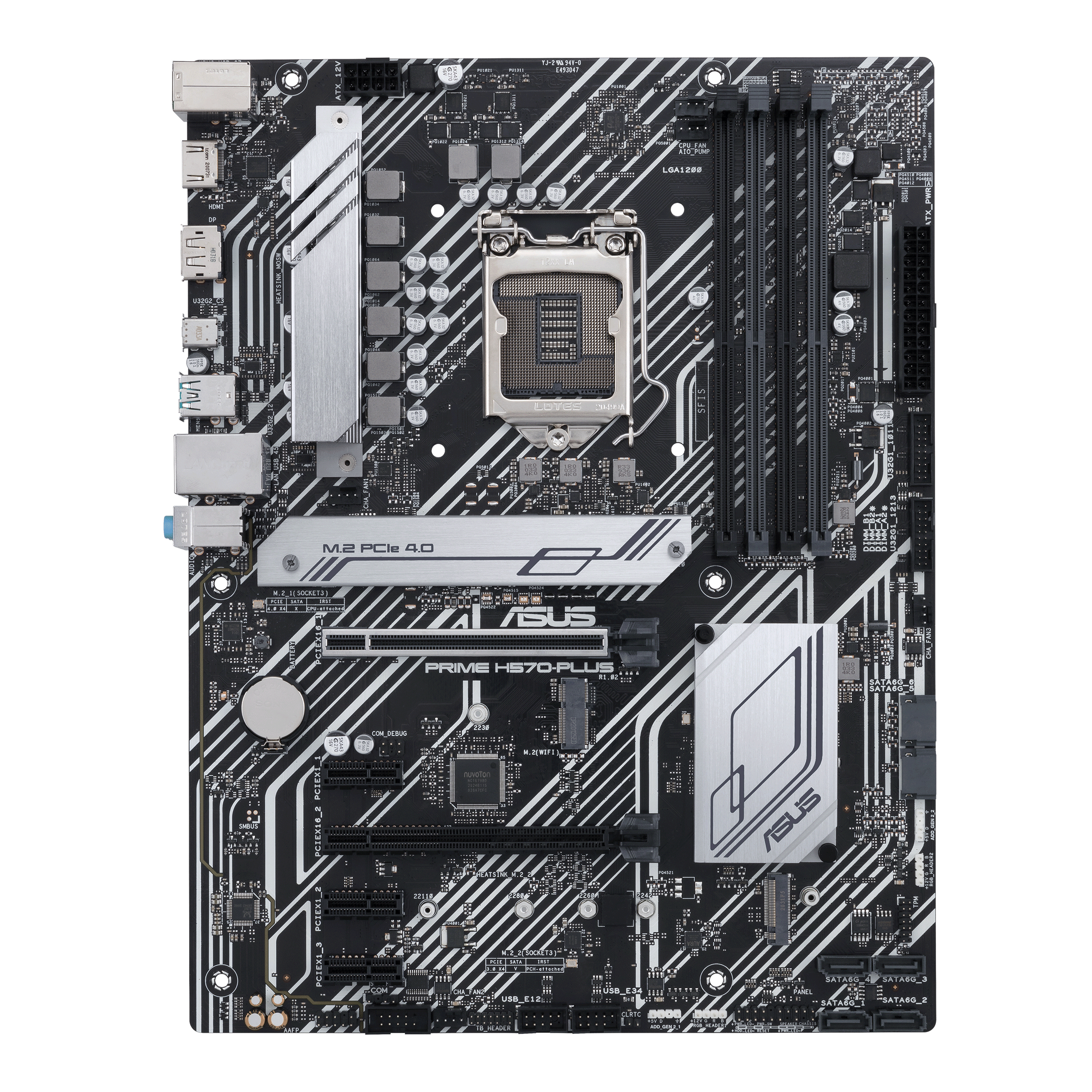 ASUS PRIME H570-PLUS - Motherboard - ATX - LGA1200-Sockel - H570 - USB-C Gen2, USB 3.2 Gen 1, USB 3.2 Gen 2 - Gigabit LAN - Onboard-Grafik (CPU erforderlich)