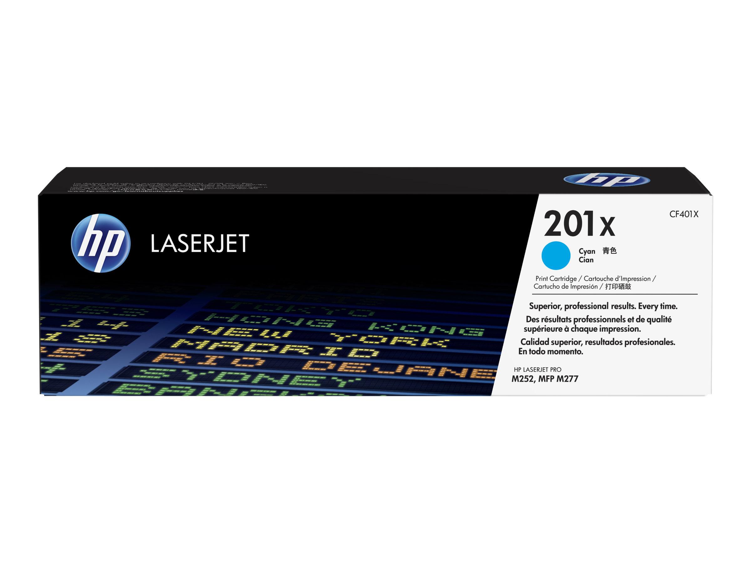 HP 201X - Hohe Ergiebigkeit - Cyan - Original - LaserJet - Tonerpatrone (CF401X)
