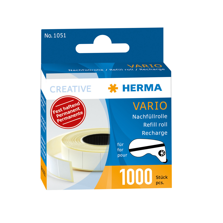 HERMA 1051 - Vario Nachfüllrolle - fest haftend - 1000 Stück