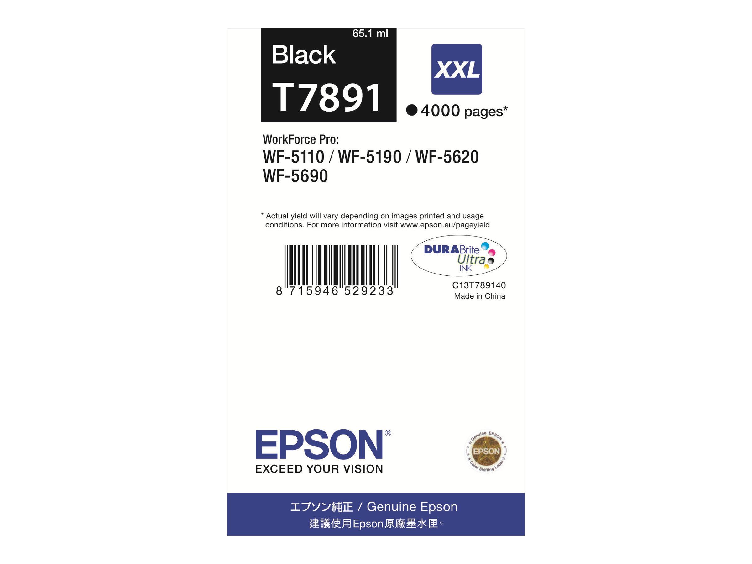 Epson T7891 - 65.1 ml - Größe XXL - Schwarz - Original