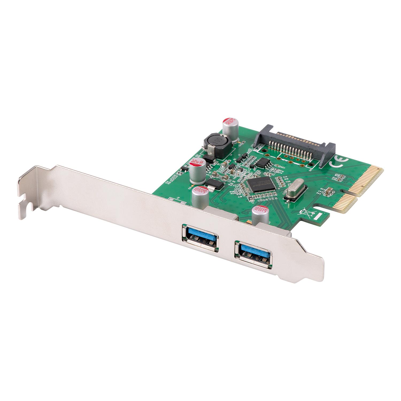 Lindy USB-Adapter - PCIe 3.0 x4 - USB 3.1 x 2