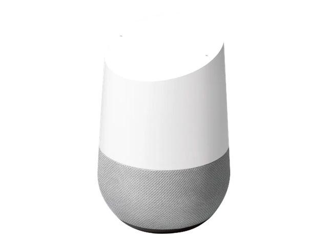 Google Home - Smart-Lautsprecher - Wi-Fi - weiß (Grill Farbe - schieferfarbener Stoff)