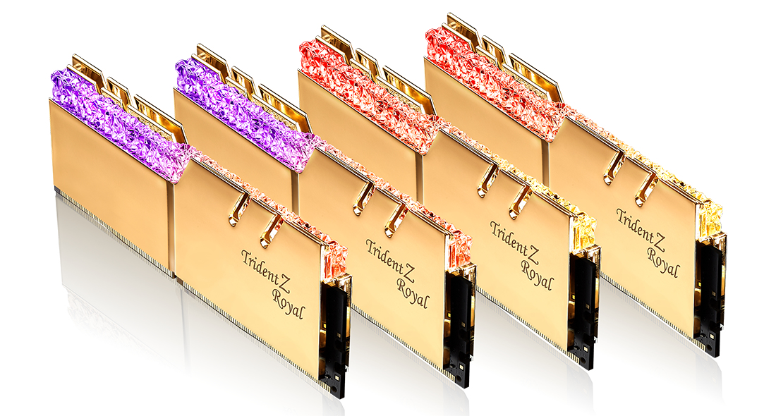 G.Skill Trident Z Royal F4-3600C16Q-128GTRG - 128 GB - 4 x 32 GB - DDR4 - 3600 MHz